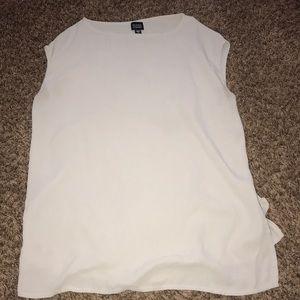 Eileen Fisher tan/cream blouse